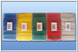Shrink tubing assortment 100 pieces of blue, yellow, red, green,