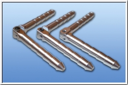 Aluminium hinge pin 3 / 50 mm
