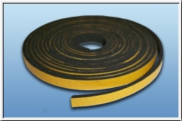 Self-adhesive foam rubber 5 x 1 mm, length 2 m