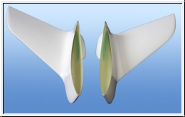 2 pieces winglets for the slip surfaces