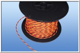 5 m PVC soft power cable 3-wire twisted 0.25 mm ²