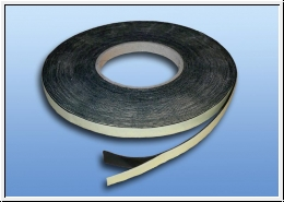Black Self-adhesive felt strips 2 meters width 10 mm thickness 1