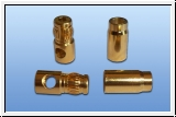 6 mm gold-contact plug and socket with lamellar