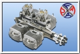 DLE 222 Power 3D 4 cylinder boxer
