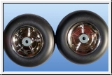 1 pair of wheels ø 105 mm with ball bearings