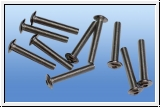 10 x M3 pan head screws with Allen
