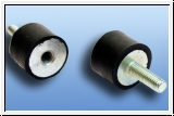 Rubber bumpers 15 x 15 mm internal & external thread M4