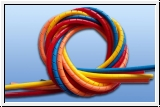 Spiral hose colored 4 - 20 mm length 1 m