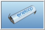 Sanyo Eneloop AA with solder tag