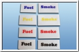 8 Piece Sticker Set Fuel & Smoke