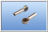 Aluminum ball joints with ball bearings M3/2 mm